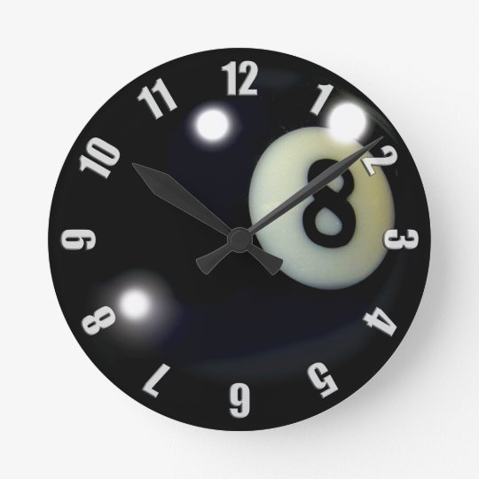 Black 8-Ball Game Clock Design