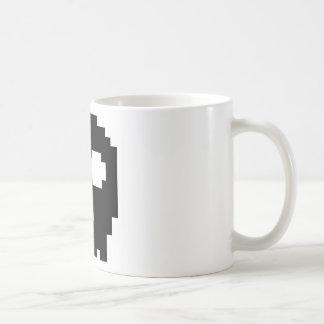 Black 8-bit Skull Mug