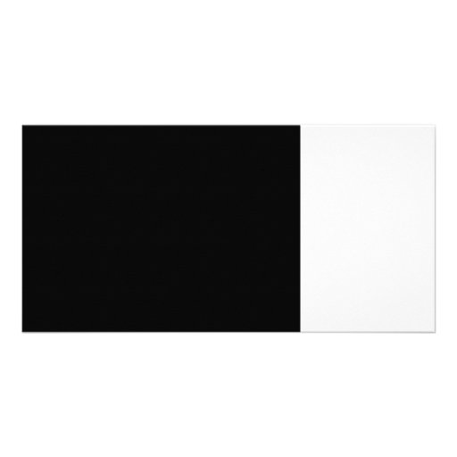 black 8 x 11 design your own product customized photo card