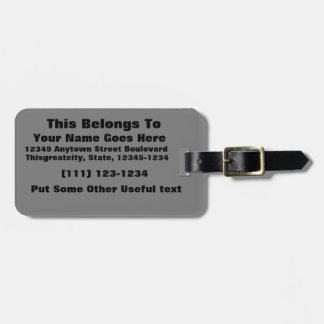 black 8 x 11 design your own product tags for bags