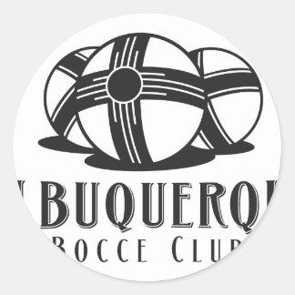 Black ABQ bocce Club Round Sticker