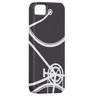 Black Abstract Bicycle iPhone 5 Case