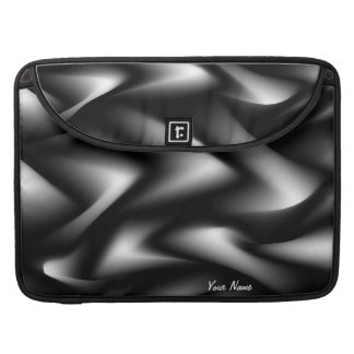 Black Abstract Expressionism Waves Sleeve For MacBooks