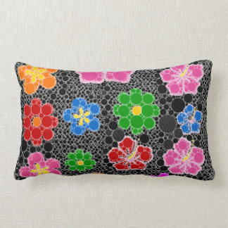 Black Abstract Flowers Cushions