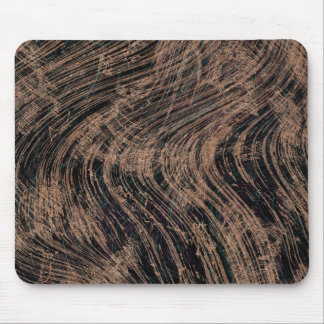 Black Abstract Marble Print Mouse Mat