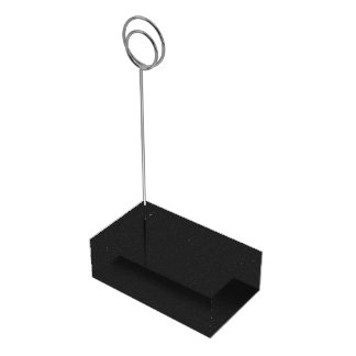 black abstract pattern table card holder