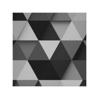 Black Abstract Wall Decor Canvas Print