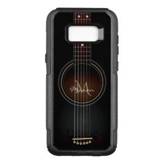 Black Acoustic Guitar Monogram Galaxy S8 Case