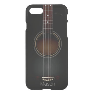 Black Acoustic Guitar Music iPhone 8/7 Case
