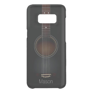 Black Acoustic Guitar Music Uncommon Samsung Galaxy S8 Case