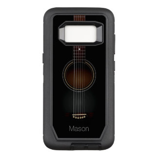 Black Acoustic Guitar OtterBox Defender Samsung Galaxy S8 Case