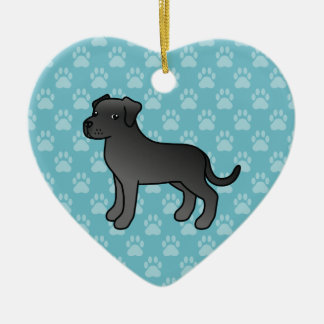 Black Adorable Cane Corso Dog Christmas Ornament
