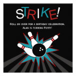 Black Adult Bowling Party Invitation