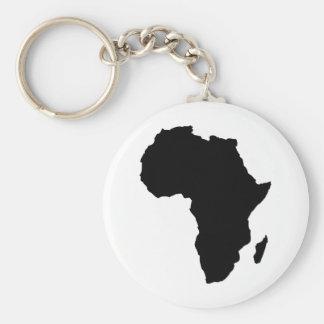 black africa shape basic round button key ring