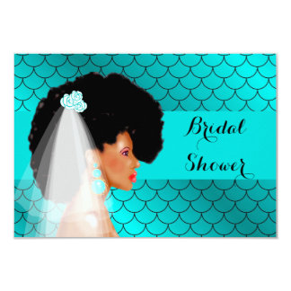 Black African American Bridal Shower Invitation