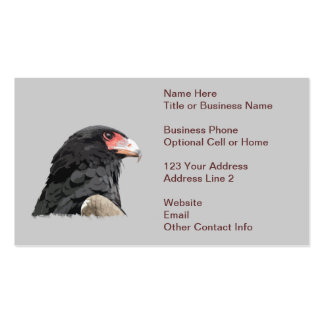Black African Bateleur Eagle Business Card Templates