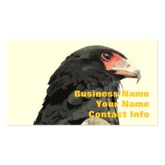 Black African Bateleur Eagle Business Card Template