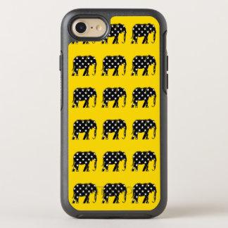 Black African Elephant Stars Pattern Yellow Bold OtterBox Symmetry iPhone 8/7 Case