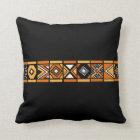 Black African pattern pillow
