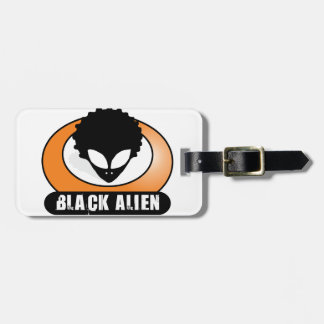 Black Afro Alien Luggage Tag
