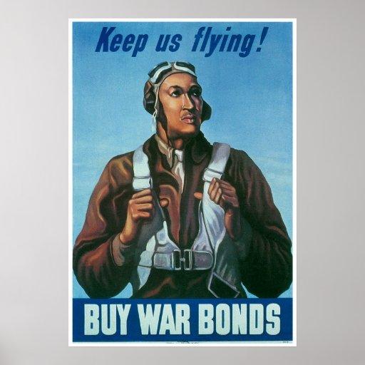 Black Airman Keep Us Flying! Poster