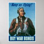 Black Airman Keep Us Flying! Posters