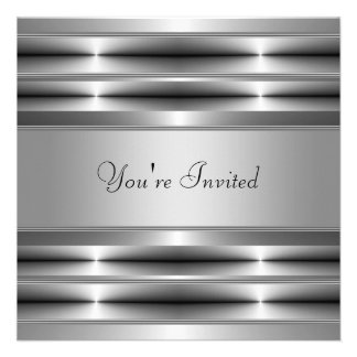 Black All Occasion Party Personalized Announcements