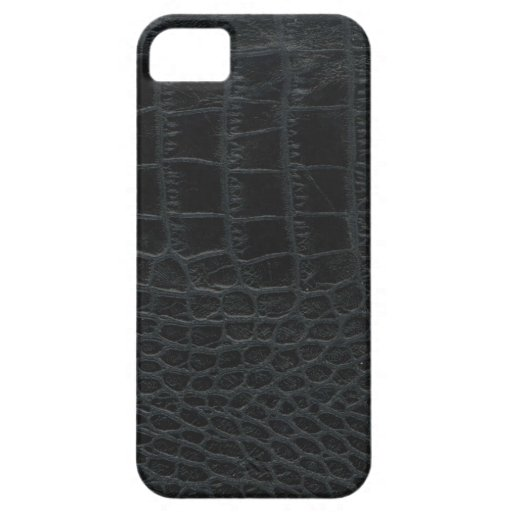 Black Alligator Skin iPhone 5 Case