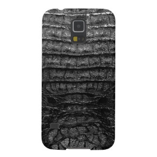 Black Alligator Skin Print Galaxy S5 Case
