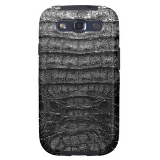 Black Alligator Skin Samsung Galaxy Galaxy S3 Covers