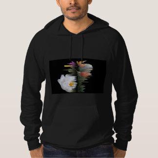 Black American Apparel  The Abstract Shine Hooded Sweatshirts