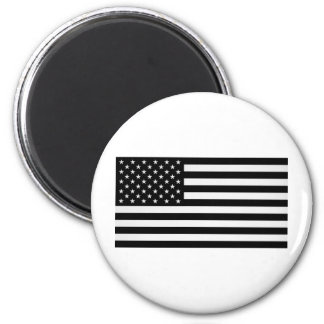 Black American Flag 6 Cm Round Magnet