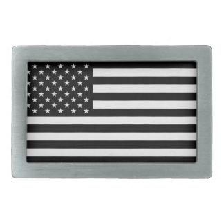 Black American Flag Belt Buckle