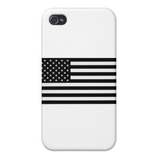 Black American Flag Cover For iPhone 4