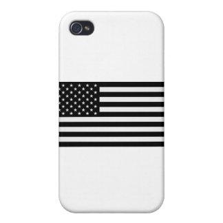 Black American Flag iPhone 4/4S Case