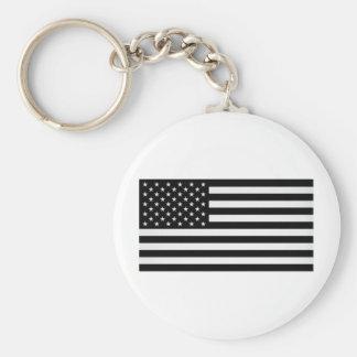Black American Flag Keychain