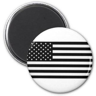 Black American Flag Magnet