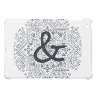 Black ampersand iPad mini cases