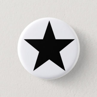Black Anarchy star (classical) 3 Cm Round Badge