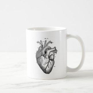 Black Anatomical Heart Basic White Mug
