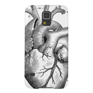 Black Anatomical Heart Galaxy S5 Case