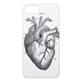 Black Anatomical Heart iPhone 7 Case