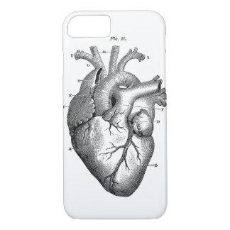 Black Anatomical Heart iPhone 8/7 Case