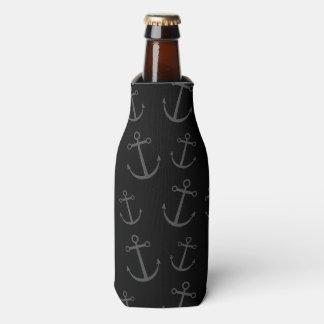 Black anchor pattern bottle cooler