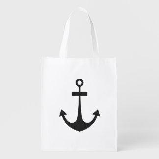 Black Anchor Reusable Grocery Bag