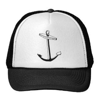 Black Anchor, Vintage Illustration Trucker Hat