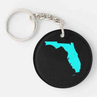 Black and Aqua Florida Key Ring