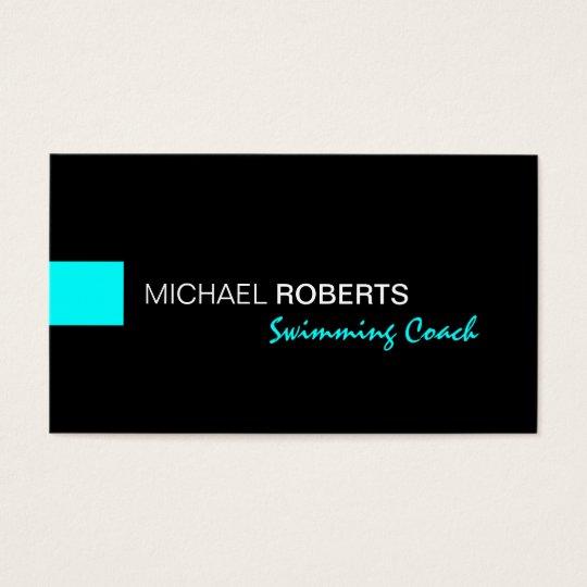 Black and Aqua Swimming Instructor Coach Lifeguard Business