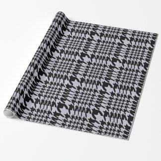 Black And Beige Pied-De-Poule HoundsTooth Pattern Wrapping Paper