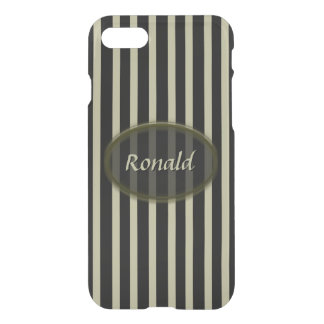 Black and Beige Stripes - Classic Design iPhone 8/7 Case